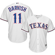 Majestic Men's Replica Texas Rangers Yu Darvish #11 Cool Base Home White Jersey