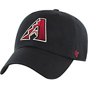 '47 Men's Arizona Diamondbacks Black Clean Up Adjustable Hat
