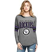 '47 Women's Colorado Rockies Grey Courtside Long Sleeve Shirt