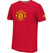 adidas Men's Manchester United 16/17 Red Crest T-Shirt