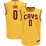 adidas Men's Cleveland Cavaliers Kevin Love #0 Alternate Gold Replica Jersey