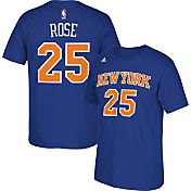 adidas Men's New York Knicks Derrick Rose #25 Royal T-Shirt