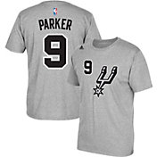 adidas Men's San Antonio Spurs Tony Parker #9 Grey T-Shirt