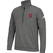 adidas Men's NC State Wolfpack Grey Primary Screen Quarter-Zip Shirt