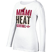 adidas Women's Miami Heat White Long Sleeve Shirt