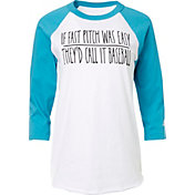 adidas Women's Fastpitch 'They'd Call it Baseball' ¾ Sleeve Shirt