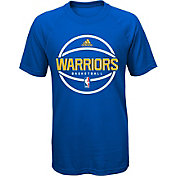 adidas Youth Golden State Warriors climalite Royal T-Shirt