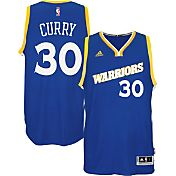 adidas Youth Golden State Warriors Steph Curry #30 Stretch Royal Swingman Jersey