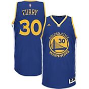 adidas Youth Golden State Warriors Steph Curry #30 Road Royal Swingman Jersey