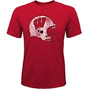 Gen2 Youth Wisconsin Badgers Red Helmet T-Shirt
