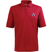 Antigua Men's Arizona Diamondbacks Xtra-Lite Patriotic Logo Red Pique Performance Polo