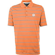 Antigua Men's Clemson Tigers Orange Deluxe Performance Polo