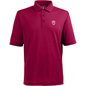 Antigua Men's Indiana Hoosiers Crimson Xtra-Lite Polo