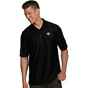 Antigua Men's Iowa Hawkeyes Black Illusion Polo