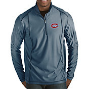 Antigua Men's Montreal Canadiens Tempo Half-Zip Pullover Shirt