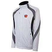 Antigua Men's Calgary Flames Tempest White Full-Zip Jacket