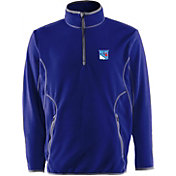Antigua Men's New York Rangers Blue Quarter-Zip Ice Pullover
