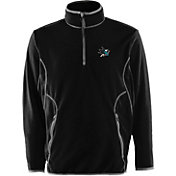 Antigua Men's San Jose Sharks Black Quarter-Zip Ice Pullover