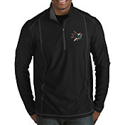 Antigua Men's San Jose Sharks Tempo Half-Zip Pullover Shirt