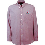 Antigua Men's Colorado Avalanche Republic Team-Colored Button Down Striped Shirt