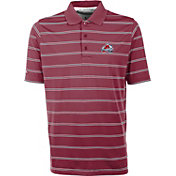 Antigua Men's Colorado Avalanche Deluxe Maroon Polo Shirt