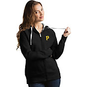Antigua Women's Pittsburgh Pirates Black Victory Full-Zip Hoodie