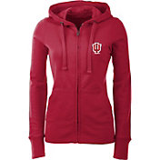 Antigua Women's Indiana Hoosiers Crimson Full-Zip Hoodie
