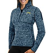 Antigua Women's San Diego Chargers Fortune Navy Pullover Jacket