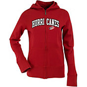 Antigua Women's Carolina Hurricanes Dark Red Signature Full-Zip Fleece Hoodie
