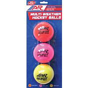 A&R Low Bounce Multi-Weather Street/Roller Hockey Balls 3 Pack