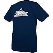 boxercraft Men's North Florida Ospreys Blue Just for You Crew Wordmark and Logo T-Shirt