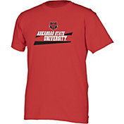 boxercraft Men's Arkansas State Red Wolves Scarlet Just for You Crew Wordmark and Logo T-Shirt