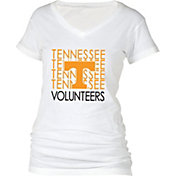 boxercraft Women's Tennessee Volunteers Perfect Fit V-Neck White T-Shirt