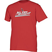 boxercraft Youth Ball State Cardinals Just for You Crew Cardinal Wordmark and Logo T-Shirt