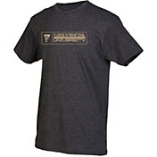 boxercraft Youth FIU Golden Panthers Grey Just for You Crew Wordmark and Logo T-Shirt