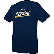 boxercraft Youth Akron Zips Navy Just for You Crew Wordmark and Logo T-Shirt