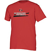 boxercraft Youth San Diego State Aztecs Scarlet Just for You Crew Wordmark and Logo T-Shirt
