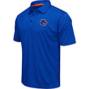 Colosseum Athletics Men's Boise State Broncos Blue Heathered Performance Polo