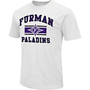 Colosseum Athletics Men's Furman Paladins White Dual Blend T-Shirt