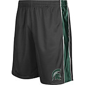 Colosseum Athletics Men's Michigan State Spartans Grey Layup Shorts