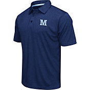 Colosseum Athletics Men's Maine Black Bears Navy Heathered Performance Polo
