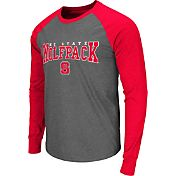 Colosseum Men's NC State Wolfpack Grey Olympus Long Sleeve Shirt