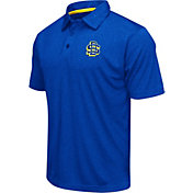 Colosseum Athletics Men's South Dakota State Jackrabbits Blue Heathered Performance Polo