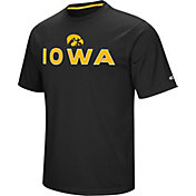 Colosseum Athletics Men's Iowa Hawkeyes Black Pique Performance T-Shirt