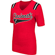 Colosseum Athletics Women's Cincinnati Bearcats Red Artistic V-Neck T-Shirt