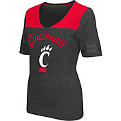 Colosseum Athletics Women's Cincinnati Bearcats Grey Twist V-Neck T-Shirt