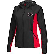 Colosseum Athletics Women's Georgia Bulldogs Black/Red Step Out Windbreaker