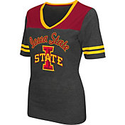 Colosseum Athletics Women's Iowa State Cyclones Grey Twist V-Neck T-Shirt