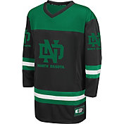 Colosseum Athletics Youth North Dakota Fighting Hawks Black Open Net Hockey Jersey