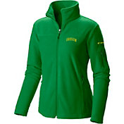Columbia Women's Oregon Ducks Green Give and Go Full-Zip Fleece